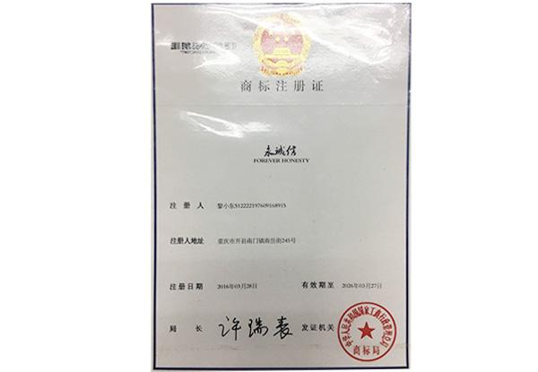 商标注册证-永诚信