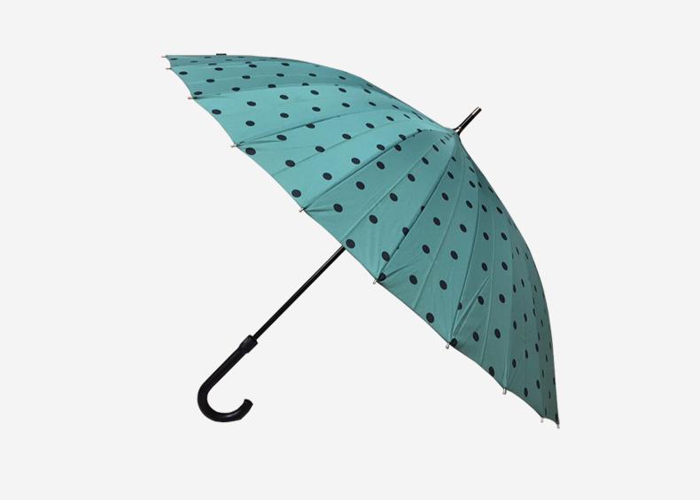 24骨玻璃纤维铝合金中棒自动高尔夫伞